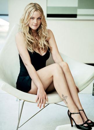 KAPALI YER KORKUSU VAR  Güzel yıldız Drew Barrymore'da klosbtrofobi yani kapalı yerde kalma korkusu var.