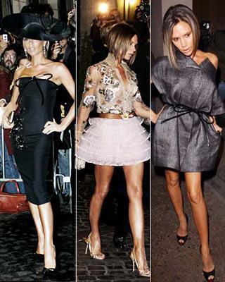 """Mevcudiyetini moda dünyasına adayan ünlüler cephesinde Victoria Beckham bizzat örnek teşkil eden bir isim. Spice Girl olmaktan vazgeçtiği günden beri, önce denim sektöründe rüştünü ispatladı, ardından """"asabi sofistike"""" giyim tarzını birebir yansıtan Victoria Beckham hazır giyim sanayi kurdu. Şimdi kendi dikip, kendi giyiyor. Havasından da geçilmiyor. David Beckham'ın karısı olarak anılıp, gölgede kalacak hali yoktu ya."""