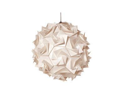 Kağıttan lamba:   Kağıttan yapılmış farklı bir tavan aydınlatması ile mekana yeni bir görüntü kazandırabiliriz. Habitat Adres İstanbul