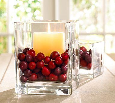 Mum:   Kırmızı gibi sıcak renkli camdan bir mumlukla loş ve romantik bir ambiyans sağlayabiliriz. Tepe Home