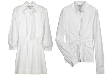 Beyaz gömlekler Herhangi bir kadına işyerinde giymek için en ideal giysi nedir diye sorsanız, kuşkusuz beyaz gömlek diyecektir. Sadece ofis için değil, günlük hayatımızda da vazgeçilmezimiz. Başka bir deyişle, her kadının dolabında mutlaka olması gereken 10 parçadan biridir beyaz gömlekler. Altına bir kalem etek giydiğinizde seksi ve şık, bir kot pantolon giydiğinizde spor ve şık olursunuz. Beyaz gömlekler için ofis gardırobunun 'küçük siyah elbiseleri' diyebiliriz.