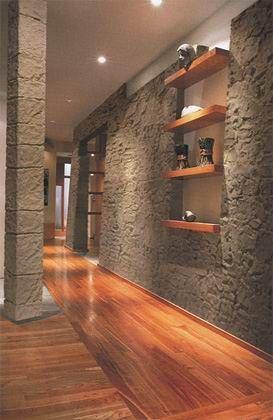 Duvarlarda taş modası...