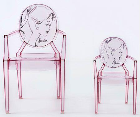 Bu marjinal tasarımlar insanı şaşırtıyor!    Louis & Lou Lou Ghost Barbie tarzındaki sandelyelerin renkleri de mevcut...