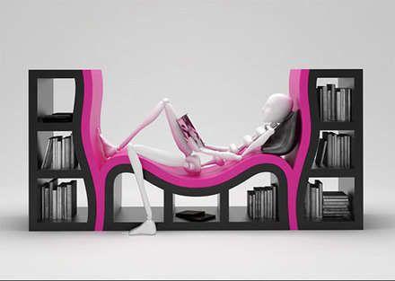 Bu marjinal tasarımlar insanı şaşırtıyor!    Bu kitaplık bildiklerimizi unutturur cinsten...