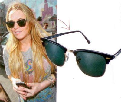 Lindsay Lohan'ın kemik güneş gözlüğü Yaz kış demeden ille de güneş gözlüğü kullanıyorsanız, Lindsay Lohan gibi klasik olacak modelleri tercih edin.  RayBan, kemik güneş gözlüğü, 393 TL Karizma Optik (0212) 420 02 81