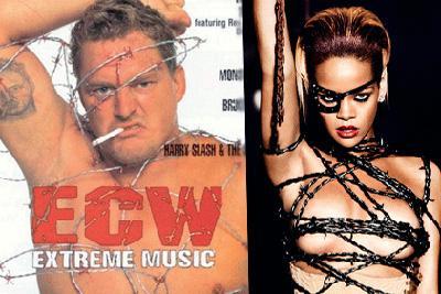 Dünyaca ünlü şarkıcı Rihanna'nın albümü için verdiği dikenli telli pozlar başına dert oldu. Seksi şarkıcının 'Russian Roulette' adlı single albümü raflarda yerini alırken Amerikan Güreşi Federasyonu (ECW) eski yöneticisi Paul Heyman, kendisinin 1998 yılında çıkardığı 'ECW Extreme Music' albüm kapağıyla aynı olduğunu söyledi. Albüm kapağı için soyunup dikenli tellerle vücudunun sarıldığını söyleyen Heyman, Rihanna'nın da albümde kendisi gibi çıplak vücudunun tellerle sarıldığını ve sağ kolunu havaya kaldırdığını dile getirdi.