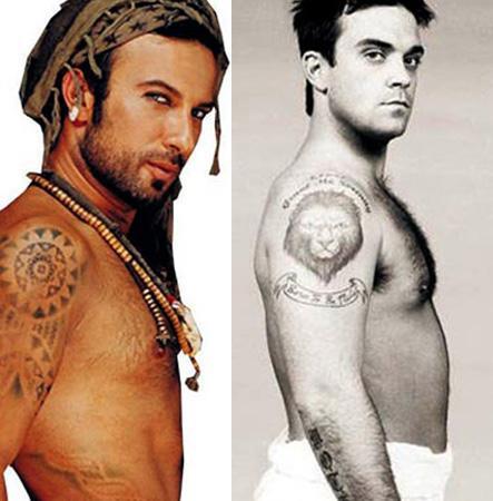 """Megastar Tarkan bile dikkatli gözlerden kaçamadı. Sanatçının 2007 tarihinde piyasaya sürülen """"Metamorfoz"""" albümünün kapağının, İngiliz şarkıcı Robbie Williams'ın bir dergiye verdiği pozlardan """"esinlenildiği"""" ortaya çıkmıştı."""