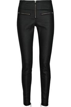 Victoria Beckham tasarımı deri pantolon