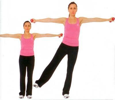BACAKLAR YANA Bacaklar omuz genişliğinde açık, sırt ise dik durmalı.   Vücut dik dururken ağırlığı tek ayağın üstüne ver. Kalçayı sıkarak bacağı yukarı kaldırırken ayakucu karşıya bakmalı. Kalça ve omuz kasları çalışmalı.