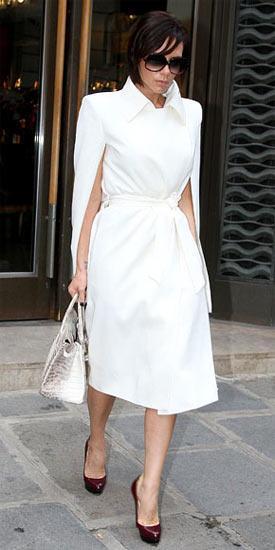 Victoria Beckham'ın ayakkabıları Christian Louboutin.