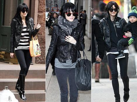 Ashlee Simpson Wentz, New York'un soğuk havasına üzerinden hiç çıkarmadığı Ever marka kapüşonlu deri ceketiyle karşı koyuyor. Manhattan sokaklarında üzerinde bu ceketle dolaşıyor.