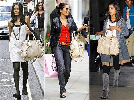 İster Paris'te alışverişte olsun, ister Los Angeles'ta gezintide, Freida Pinto'yu her zaman Dolce & Gabbana çantasıyla görebilirsiniz.