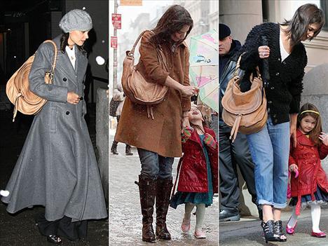 Hala yaz gelmemiş olabilir ama bu Katie Holmes'ün Chloe'nin 2010 ilkbahar – Yaz sezonundaki bu çantasını kullanmasına engel değil. Hava güneşli de olsa, kar da yağsa bu çanta Holmes'ün hep yanında.