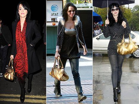 Chloe çantalarının müdavimlerinden biri de Kathy Perry. Ünlü şarkıcı markanın Paddington modeli çantasını gittiği her yere yanında götürüyor.