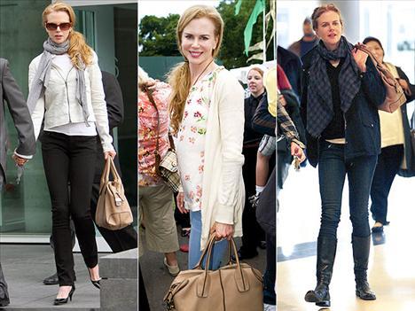 Ünlü oyuncu Nicole Kidman'ın vazgeçemediği aksesuarı ise Todd's çantası.