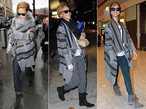 Rihanna'yı son günlerde her yerde Fair Isle Yigal Azrouel Wrap hırkasıyla görebilirsiniz. Rihanna bu hırkayı o kadar çok sevdi ki, neredeyse hiç üzerinden çıkarmıyor.