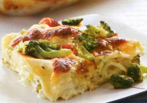 Brokolili Lazanya (6-8 kişilik)  Malzemeler:  700 gram brokoli  16 yaprak lazanya  2 çorba kaşığı tereyağı  2 çorba kaşığı un  Bir buçuk su bardağı ılık süt  Bir buçuk su bardağı ılık su  2 çorba kaşığı kıyılmış biberiye  1 diş sarımsak  150 gram dil peyniri  12 adet kiraz domates  2 çorba kaşığı sıvıyağ  Tuz, karabiber  Hazırlanışı: Öncelikle beşamel sosu hazırlayın. Bunun için tereyağını eritip üzerine unu ekleyin ve hafifçe kavurun. Ilık süt ve suyu katıp, hızlıca karıştırın. Kısık ateşte un kokusu gidene dek yaklaşık 5-10 dakika pişirin. Biberiye, tuz, karabiber ve dövülmüş sarımsak ilave ettikten sonra kenara alın.Dil peynirini tavla zarı şeklinde doğrayın. Brokoliyi çiçeklerine ayırıp kenara alın. Isıya dayanıklı bir fırın kabını yağlayın. Kabın dibine 2 çorba kaşığı beşamel sos koyup yayın. Üzerine bir sıra lazanya yaprağı koyun. Yeniden beşamel sos dökün. Dil peyniri ve brokoli serpiştirin. Bu şekilde bir kat lazanya yaprağı üzerine beşamel sos, dil peyniri ve brokoli olacak şekilde malzeme bitene dek işleme devam edin.   En üste beşamel sos gezdirip, dil peyniri ve brokoli serpiştirin. Kiraz domatesleri ikiye bölüp yemeğin üzerine ekleyin.Sıvıyağ gezdirin.Önceden ısıtılmış 180 derece fırında 20 dakika pişirin. Fırını kapatıp lazanyayı 10 dakika içinde dinlendirin.Dilimleyerek servis yapın.