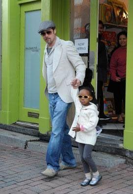 Jolie ve Pitt çiftinin diğer kızı Zahara, genellikle kız çocuğu gibi giyiniyor.