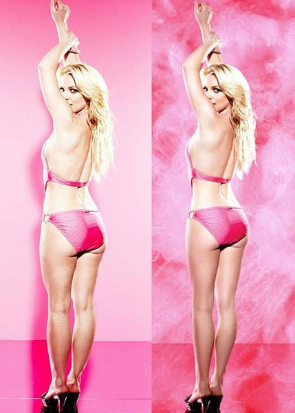 Yıldız popçunun mayolu pozları photoshop harikası çıktı.