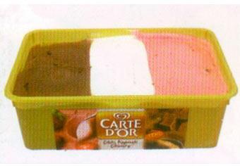 Carte D'Or Çilek, Kaymak, Çikolata Seçim yapmakta zorlananlar için üç farklı tat bir kutuda sunuluyor: Çilek, kaymak ve çikolata...  100 gr'da Enerji: 181 kcal. Protein: 2.7 gr. Yağ: 6.9 gr.