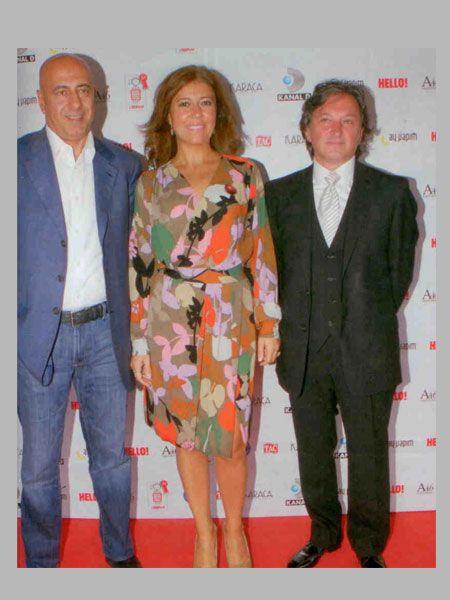 Mehmet Koçarslan, Doğan TV Pazarlama Direktörü Özlem Asmaz, Doğan TV CEO'su İrfan Şahin