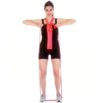 Bant çekme İki ucunu bağladığınız bandı kalça hizasında açtığınız ayaklarınıza geçirin. Bandı İki elinizle kavrayarak omuz hizasına kadar yukarı çekin.