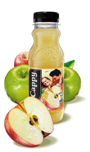 Cappy Elma Suyu: 99 kalori (200 ml.)   Yüzde 100 elma suyu konsantresinden üretilen içeceğin 200 ml'lik kutusunda 99 kcal. enerji ve 24 gr. karbonhidrat bulunuyor.