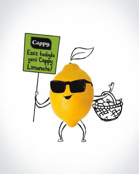 """Cappy Limonata: 170 kalori (330 ml.)  """"Ekşi ama gururlu limon"""" şişeye girdi. Cappy'nin limonatasının 330 ml'lik şişesi, 170 kcal. enerji ve 40 gr. karbonhidrat içeriyor."""