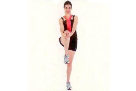 Kalça kaslarını esnetme Ayakta dik bir şekilde dururken bacağınızı dizden kavrayıp kendinize doğru çekin.
