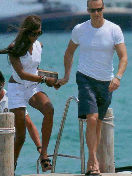 Naomi Campbell ve sevgilisi Vladimir Doronin, St Tropez'e hayran....