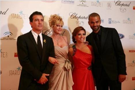 Antonio Banderas, Melanie Griffith, Tony ve Eva Longoria Parker
