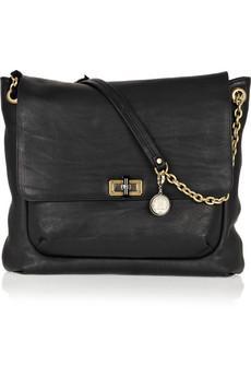 Zincir detaylı siyah kol çanta