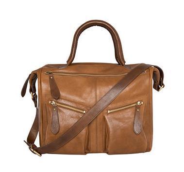 Açık kahverengi kol çantası