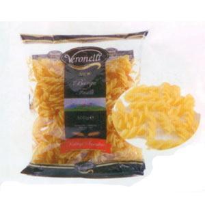 Veronelli Burgu Makarna Enerji 345 kcal.  Protein 10.5 gr.  Karbonhidrat 75.9 gr.  Yağ 0.3 gr.  Fiyatı: 1.49 TL. (500 gr.)