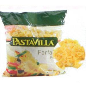 Pastavilla Kelebek Makarna Enerji 356 kcal.  Protein 1126 gr.  Karbonhidrat 76.92 gr.  Lif 3 gr. Yağ 0.31 gr.  Fiyatı: 1.39 TL (500 gr.)