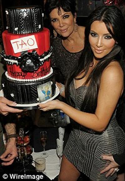 Kim ilk pastasını 15 Ekim'de Las Vegas'ta kesti. İkincisini de iki gün sonra New York'ta.