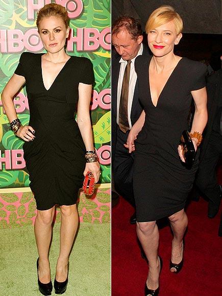 Anna Paquin ve Cate Blanchet'de bu Alexander McQueen elbiseyle pişti olmuşlar.