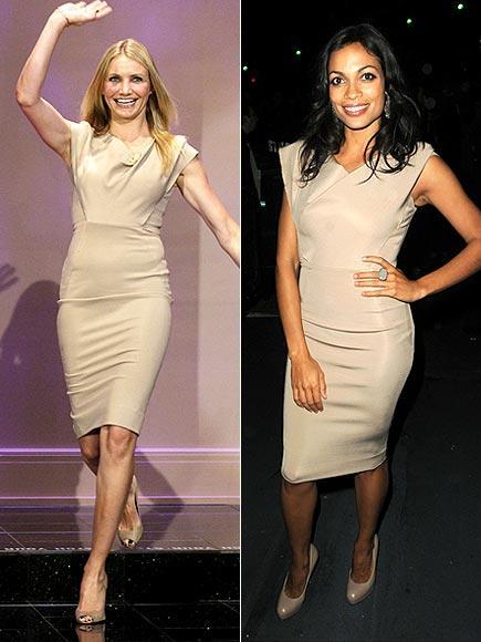 Cameron Diaz ve Rosario Dawson, Victoria Beckham tasarımı bu elbiseyle pişti olmuşlar.