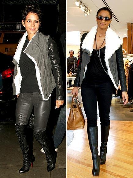 Halle Berry ve Ciara aynı Helmut Lang ceketi giymişler.