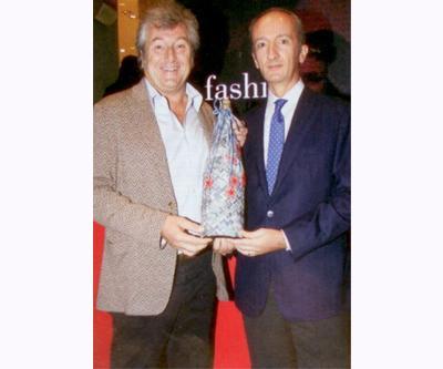 Missoni Grup Başkanı Vittorio Missoni ve S. Pellegrino CEO'su Stefano Agostini