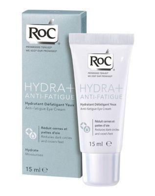 ROC Hydra Anti-Fatigue Göz çevrenizde oluşan izleri bir yaşlanma belirtisi olarak değerlendirmeyin. Bunlar yorgunluğun etkileri olabilir. Nemlendirici ve antioksidan karışımı ile zenginleştirilmiş ROC Hydra Anti-Fatigue, stres nedeniyle göz çevresinde oluşan koyu halka ve kazyağı gibi yorgunluş izlerini azaltıyor. 48 TL