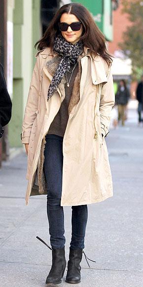 Rachel Weisz'in içi kürklü paltosu