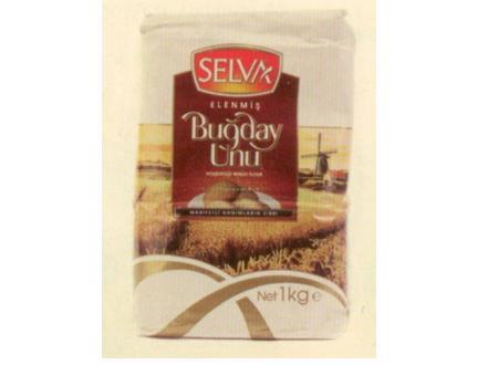 Selva Buğday Unu Börekten kurabiyeye, baklavaya farklı hamur işleri için kullanılabiliyor, içindekiler: Buğday unu, antioksidan (L- Askorbik Asit E 300)  Enerji 353.17 kcal. Protein 10.41 gr. Yağ 0.65 gr. Şeker 0.12 gr. Karbonhidrat 76.42 gr. Sodyum 39.4 mg.
