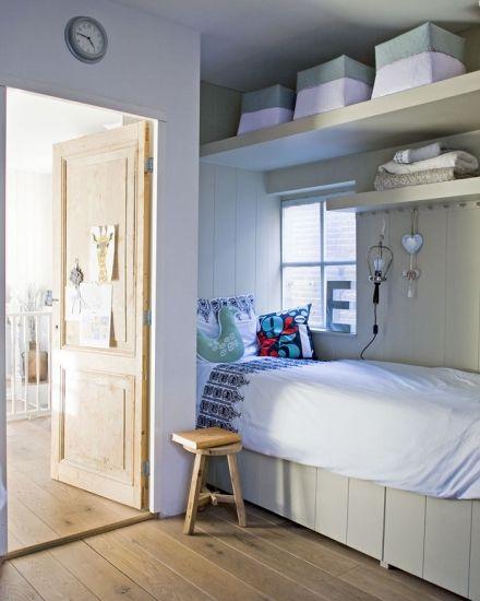 •Misafir odası veya çocuk odasında, köşede duran yatağın üzerine yapacağınız geniş ve gizli raflarla ekstra depolama alanı elde edebilirsiniz.