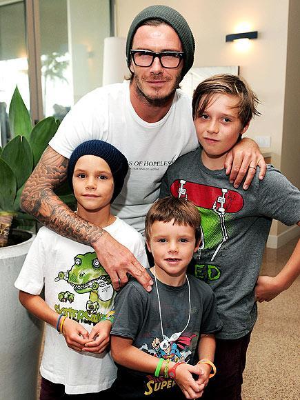 Beckham çiftinin çocukları 11 yaşındaki Brooklyn, 8 yaşındaki Romeo ve 5buçuk yaşındaki Cruz