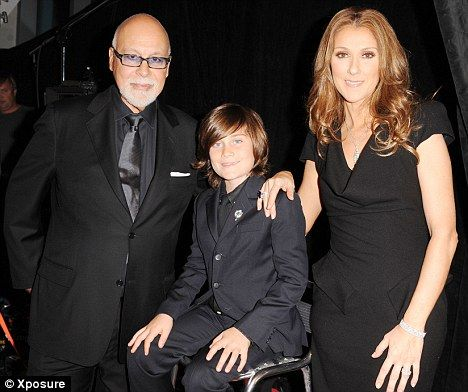 Celine Dion, eşi Rene Angelil ve çocukları Rene-Charles
