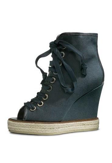 Kenzo  Taban kısmı hasır olan bağcıklı ayakkabı