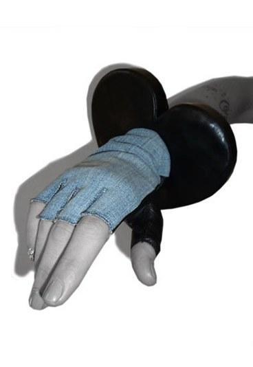 Maison Fabre  Baş parmağı deri olan eldiven
