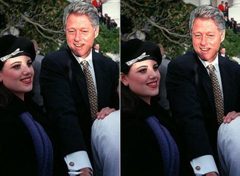 """Beyaz Saray'da staj yapan balık etli esmer bir genç kız...  Monica Lewinsky. İşte 1998 senesinde ABD Başkanının kariyerini yakan kadın. Lewis & Clark Üniversitesinde okuyan Lewinsky, iş dünyasına atılmadan önce tecrübe kazanmak için staj yerini belirlemeye çalışırken, eminiz nelere yol açacağını bilmiyordu.  Her şey Bill Clinton'ın sıkça gerçekleştirdiği Beyaz Saray kokteyllerinden birinde gerçekleşti. Lewinsky'yi gözüne kestirmiş olan Bill, bir anda ortadan kayboldu. Bir süre sonra Lewinsky'nin bir arkadaşı, Linda Tripp, gizli aşıkların telefon konuşmalarını kaydetmeye başladı.   Tripp kaydettiği kasetleri, eski temyiz mahkemesi yargıcı Kenneth Starr'a yolladı. Bir anda dünyanın gündemine bir kadın oturdu: Monica Lewinsky.   Bill Clinton her ne kadar """"o kadınla beraber olmadım"""" diye basın açıklaması yapsa da, onun süper hızlı eriyen politik itibarı en çok peşinde koştuğu Bin Ladin'i şüphesiz sevindirmişti.   Clinton, tüm zamanların en büyük politik seks skandalı kahramanı unvanını Berlusconi'ye bile kaptırmayacak gibi."""