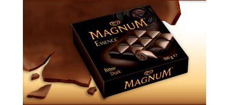 En sevdiğimiz çikolataların kalori değerleri hakkında bilginiz var mı? Sizler için en fazla tüketilen çikolataların besin değerlerini inceledik...  Algida Magnum Essence Bitter  Dondurmasından tanıdığımız Magnum tadı, şimdi çikolata çeşitleriyle karşımızda. Bitter çikolatanın (yüzde 60) içinde dolgu olarak bitter krema (yüzde 40) bulunuyor. Bitter çikolata kısmında kullanılan kakao kuru maddesi oranı ise yüzde 35.  100 gr.'da;   564.5 kcal. enerji,   36.4 gr. yağ,   8.6 gr. protein